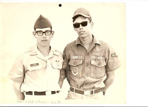 Two of my brothers during Vietnam