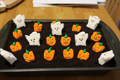 Halloween Peeps on a Dirt Cake