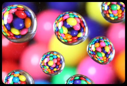 Gumball droplets