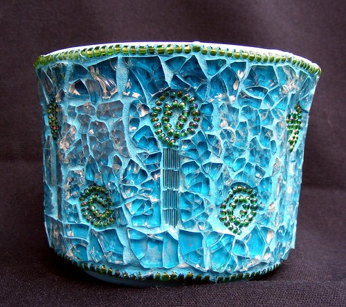 Turquois pot grouted
