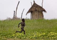 Back home before the storm Ethiopia (Eric Lafforgue) Tags: house rain kara kid village artistic dam pluie explore ornament bodypainting rite karo barrage tribo headdress adornment pigments headwear headgear omo eastafrica thiopien etiopia ethiopie etiopa 5276  etiopija ethiopi  etiopien etipia personalgeography  etiyopya  kolcho nomadicpeople    korcho   salinicostruttori    gibeiiidam gibe3dam bienvenuedansmatribu peoplesoftheomovalley