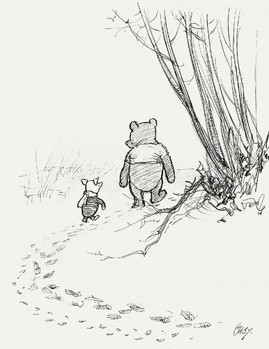 He Went on Tracking, and Piglet ... Ran After Him. / Paul K