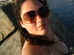 Sun Summer (petitewebfleur) Tags: mer de soleil eau corse été lunettes plage mediterannée jeunefille cheveuxmouillés maillotdebains styleseventies
