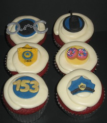 POLICE CUPCAKES (two parts sugar) Tags: police cupcake missionviejo orangecounty lawenforcement