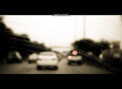Never ending ROAD.. (Waseef Akhtar) Tags: road old cars sepia daylight riyadh saudiarabia unfocussed ksa canoneos400d kingfahadroad