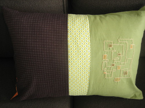Lines and Squares pillow