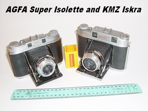 AGFA Super Isolette and KMZ Iskra