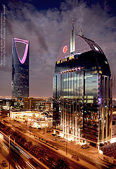 Beauty + Power + Soul _ Riyadh (YZEED) Tags: world street new city travel family light sunset vacation sky cloud streets color building tower art cars beautiful weather skyline architecture night clouds skyscraper wow photography lights amazing cool fantastic nikon flickr photographer view nightshot earth capital dream kingdom east professional saudi arabia middle 2008 powerful riyadh saudiarabia 2009 soon  ksa kingdomtower   supershot   yazeed anoud   alkhulaifi   khulaifi alanoud alanoudtower mamlkah