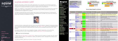 Comparación del aspecto de mi blog con el de Nagios