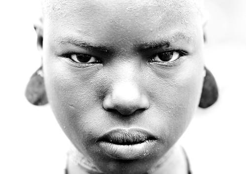 Bodi girl shaved Ethiopia par Eric Lafforgue