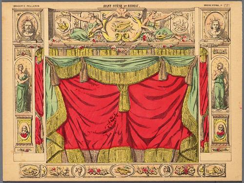 0002-Lienzo de proscenio y cortina finales del XIX
