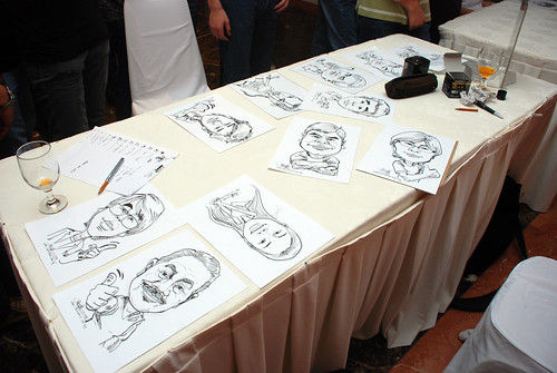 Caricature live sketching for Nippon Express Singapore Pte Ltd -