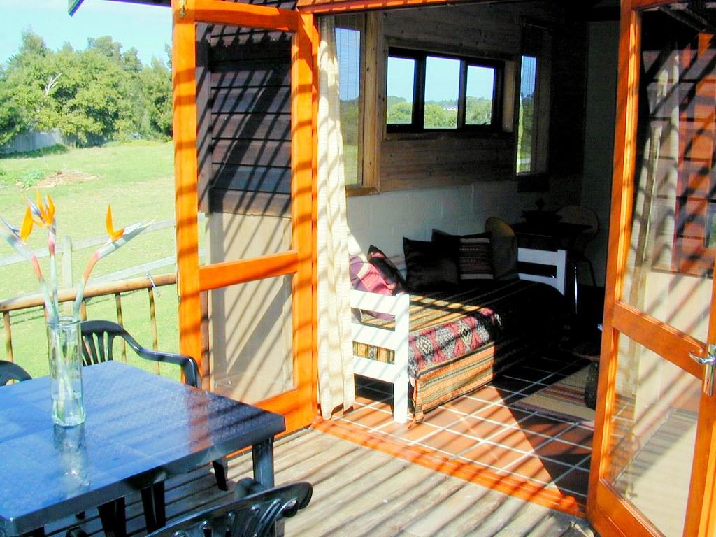 peace of eden accommodation - djembe chalet veranda
