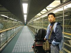 抵達溫哥華機場,準備轉機