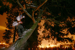 Ripka and the Seattle city lights. (fank209) Tags: seattle snow tree night snowboarding lights riding bryan snowboard westseattle westy treeride ripka westseattlegolfcourse bryanripka ripker