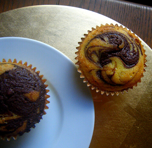 Healthy Nutella Swirl Cupcake