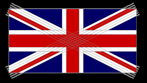 I didn't bother to make a pattern since a Union Jack is pretty