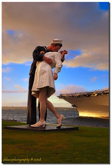 The Kiss...... Aug 14, 1945 (Debasis ~~) Tags: world ocean california christmas city travel sunset blackandwhite usa holiday color art statue clouds geotagged photography photo nikon kiss december sandiego photos wwii photojournalism nurse sailor vjday warii anawesomeshot aug141945