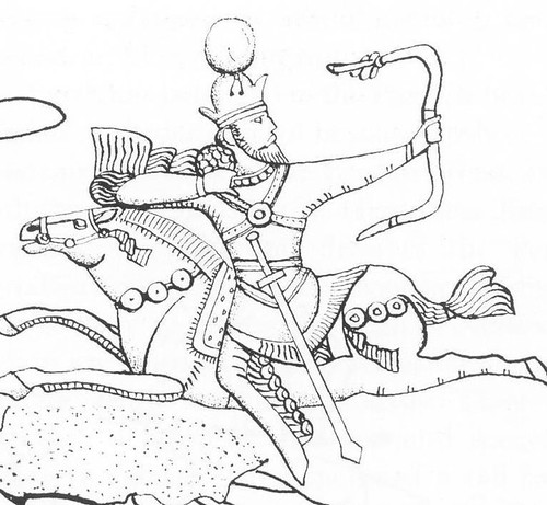 sassanian king at parthian shot 6th century ad