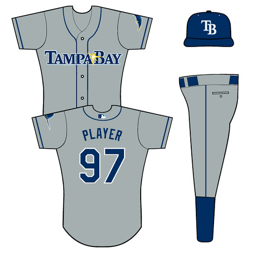 Rays Alternative Road Uniform