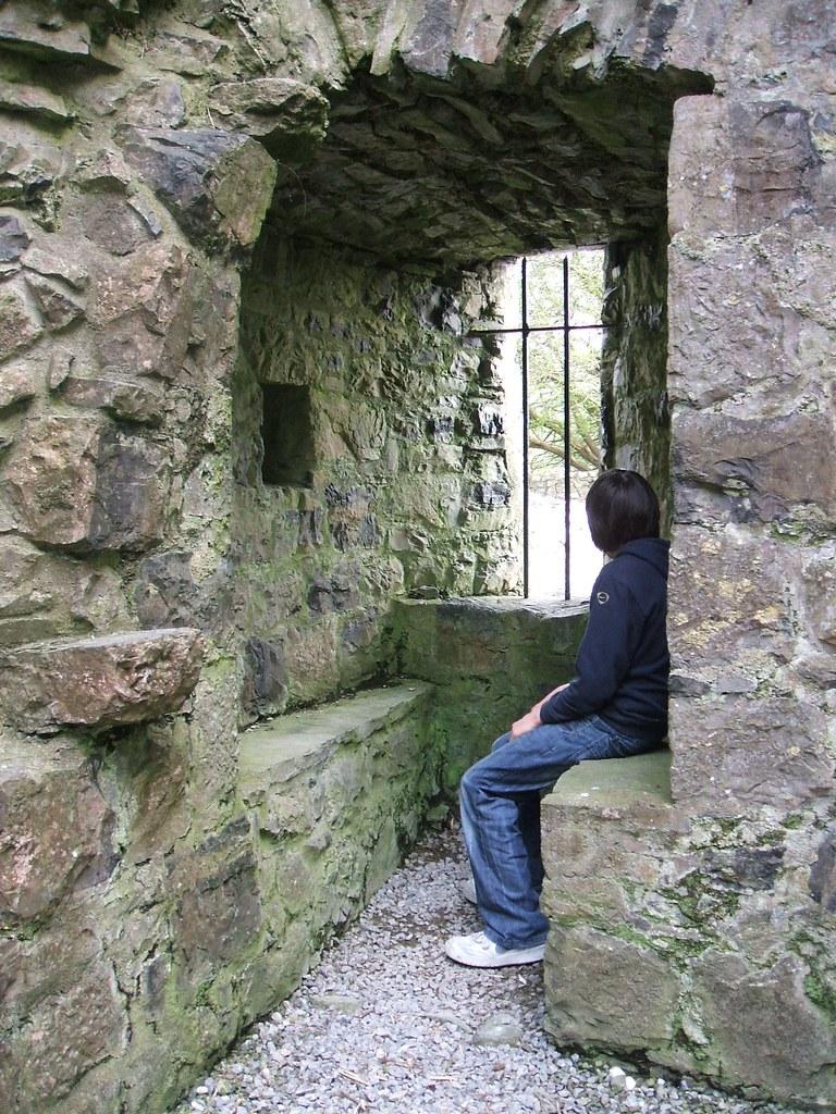 Fore Abbey - window niche & stone seats