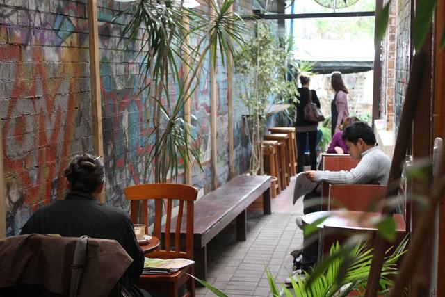 Bookstore café Glebe
