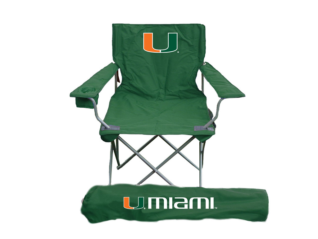 Miami Hurricanes TailGate Folding Camping Chair