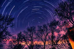 Finding Polaris (Moniza*) Tags: longexposure blue sunset sky nature night clouds sunrise landscape star twilight nikon bravo trails explore trail bluehour celestial startrails polaris northstar startrail d90 explored moniza landscapeexhibition photographerschoice~halloffame