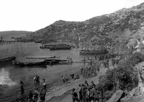 tropas aliadas en Gall�poli