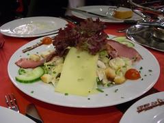Salad at Hotel Edelweiss, Geneva