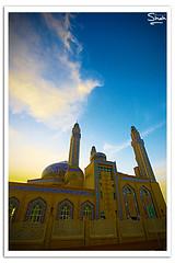 Al Baqer Mosque [HDR] (Hussain Shah.) Tags: blue sky clouds d50 nikon sigma mosque kuwait 1020mm polarizer hdr kuwaiti shah hussain albaqer muwali