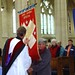 AAW banners being received by the dean