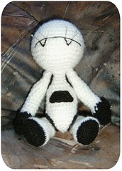 Marvin Entsteht III (Froschprinzessin) Tags: galaxy guide amigurumi marvin the hitchikers