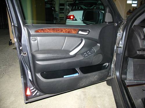 BMW X5 Interior Trim. The new metallic trim is plastic, but is still a