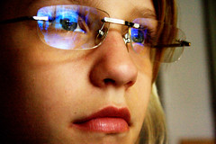 Tonje 2 (Erika The Gray) Tags: blue glasses gray erika tonje bildekritikk