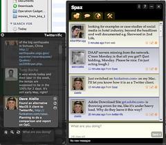 Twitterific vs Spaz