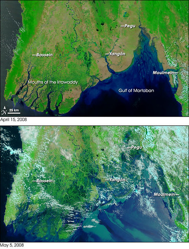 Cyclone Nargis and resulting flooding - http://earthisours.blogspot.com
