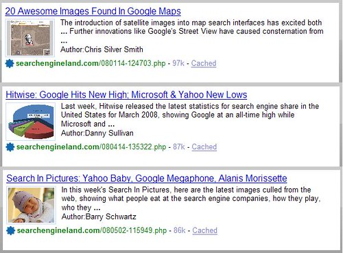 Yahoo SearchMonkey - Presentation Treatment Display 2
