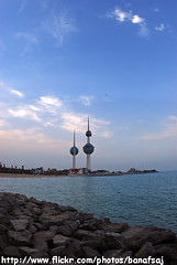 Kuwait Towers (Banafsaj_Q8 .. Free Photographer) Tags: three towers free photographers kuwait مدينة الخليج الكويت شارع kfp أبراج banafsaj banafsajq8