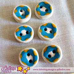 Bottoni con turchese - 075 (La Bottega Magica) Tags: handmade paste polymerclay fimo button cernit bottoni sintetiche