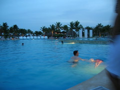 Mayan Palace pool at night