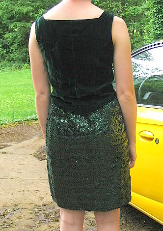Upcycled Green Sequin Formal