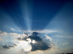 Heavenly Sunday (sylkyred1) Tags: blue sky sun white clouds reflecting bravo shining heavenly