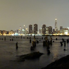 (Polish Sausage Queen) Tags: city brooklyn night river lights shore greenpoint cityview manhattanview