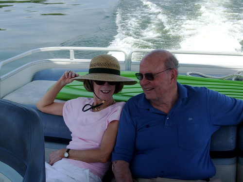 Fran and John Hardcastle on the lake - 4