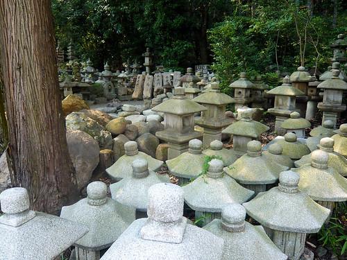 A few lanterns