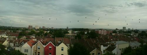 Bristol Balloon Fiesta from Cobourg Road