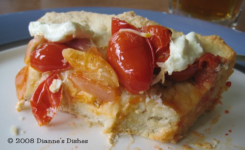 Tomato Goat Cheese Pizza Tart: Dig In