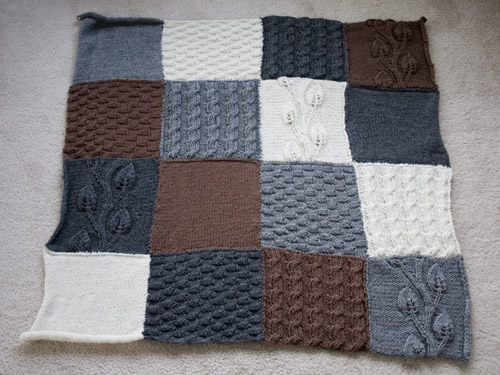 The Potential of Yarn: FO: Sampler Baby Blanket