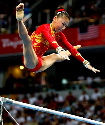 Chinese gymnast He Kexin wins the gold